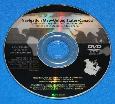 GM Navigation Disc 2011 United States/Canada Part [ v.20945286, 9.3, 2011 ]
